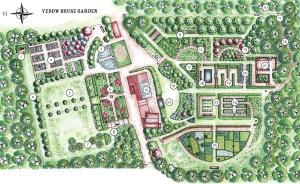 Veddw House Garden - Garden Plan - Garden Map