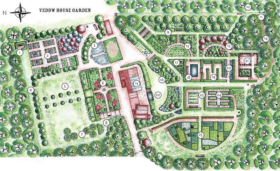 Veddw House Garden Garden Plan Garden Map Veddw
