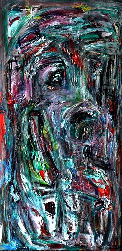 dog_of_bau_60x120_mixed_media_on_wood_2007_sv