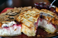 Macadamia Nut Brie En Croute: https://vedgedout.com/2012/10/31/virtual-vegan-potluck-spooky-vegan-macadamia-nut-brie-en-croute/