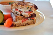 Vegan Caprese Grilled Cheese Sandwich:https://vedgedout.com/2013/04/12/caprese-vegan-grilled-cheese-sandwiches-with-vegan-tomato-basil-bisque/
