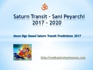 Sani peyarchi 2017 – 2020 Saturn transit 2017