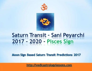 Satunr Transit 2017 - 2020 for Pisces Sign - Sani Peyarchi Plalangal 2017 for Meena Rasi