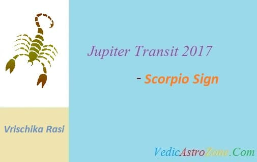 Jupiter Transit 2017 to 2018 for Scorpio Sign - Guru