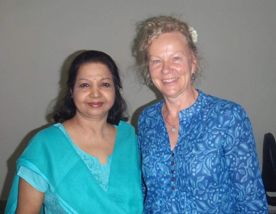 Debby with Radha Sundararajan