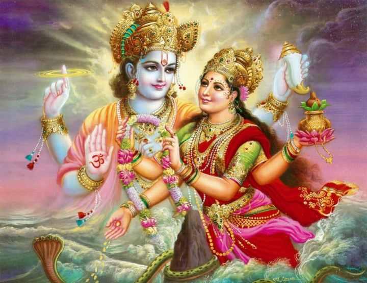 Vishnu and Lakhsmi