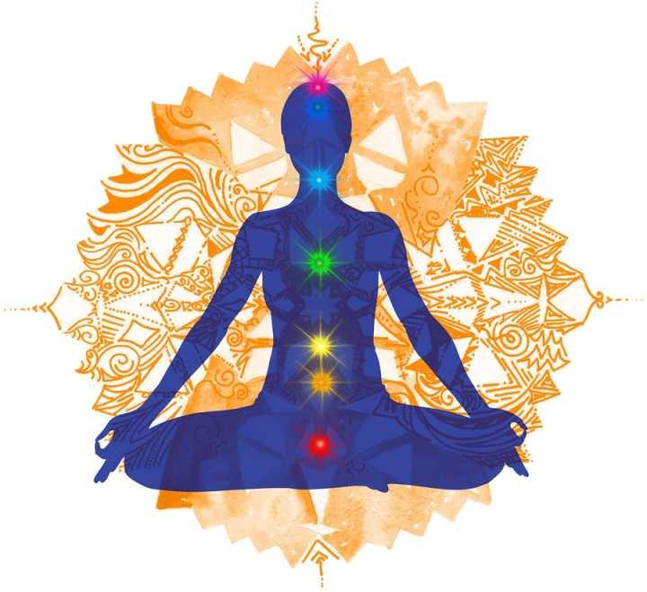 Seven chakra Yoga meditation