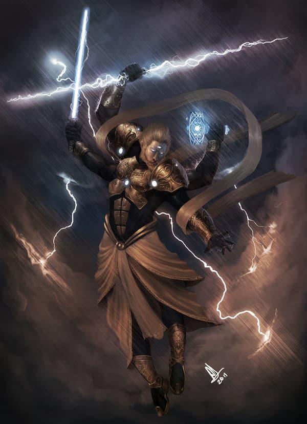 Lord Indra - Vedic god of rain and thunder