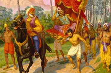 Jaḍa Bharata and Mahārāja Rahūgaṇa