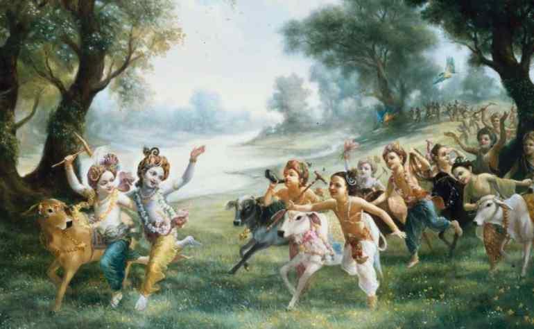 Joyful Lord Krishna