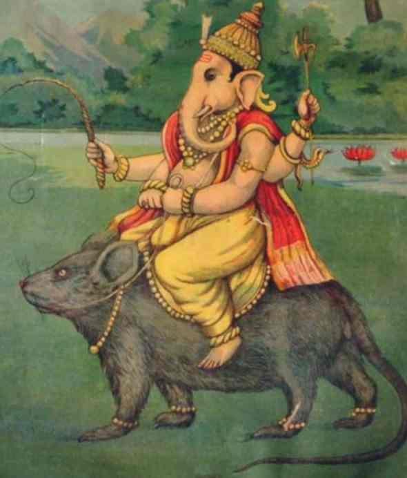 Lord Ganesha in Vahana