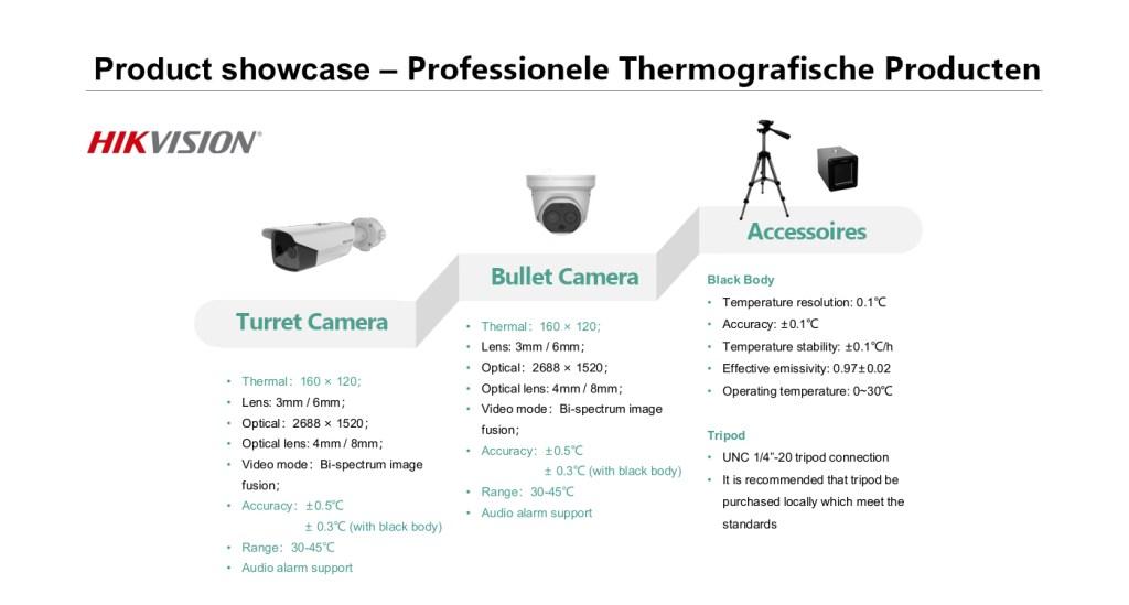 Hikvision warmtebeeld camera producten
