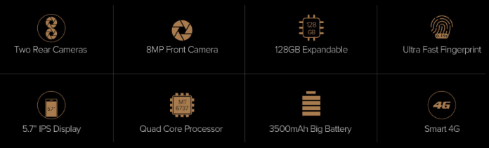 Other features of Leagoo M8 Pro Phablet