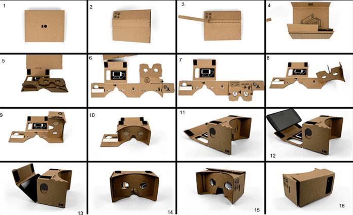 assemble Google Cardboard