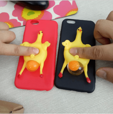 Cartoon 3D Squishy Squeeze Lay Egg Yellow Chicken