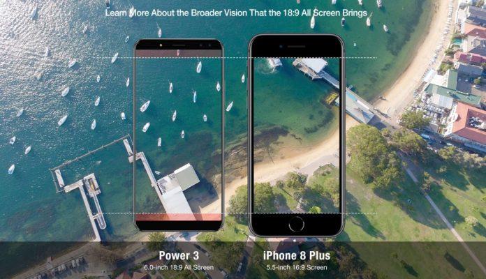 Ulefone Power 3 Vs iPhone 8 Plus