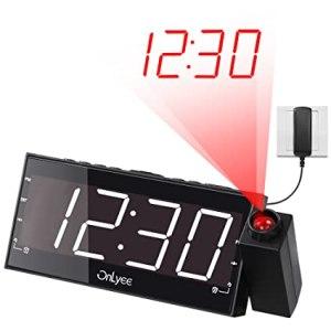 OnLyee8-inch Projection Alarm Clock