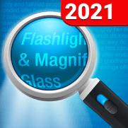 Magnifying Glass + Flashlight App