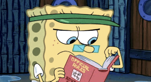 SpongeBob Reading Official Rules Advanced Edition