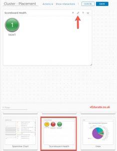vrops IsGreenForPlacement Dashboard 1