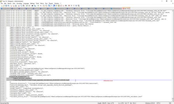 vRSLCM Product update LCMVROPSYSTEM25008 vROPs logs