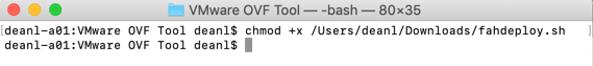chmod script to deploy vmware appliance for foldingathome