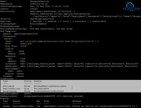 Tanzu Mission Control Policies Image Registry Policy Blocks Workload Kubectl FailedCreate