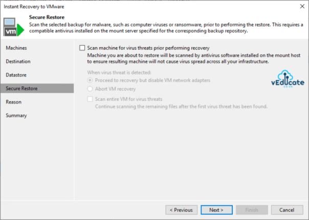Veeam Backup for Azure Integration with Veeam Backup and Replication Instant VM Recovery Secure Restore