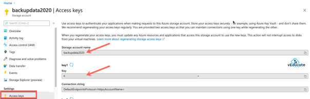 Veeam Backup for Azure Integration with Veeam Backup and Replication New external repository Storage Account Access Key