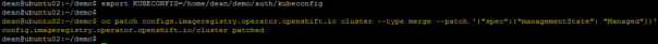 Deploy OpenShift VMware Static IP openshift install wait for install complete configure image registry