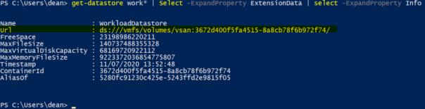 vSphere CSI with Openshift Get VMC Datastore URL
