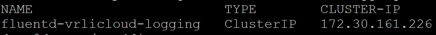 oc get svc n vmware system vrlic clusterip