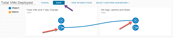 Create Dashboard Total VMs Deployed Edit Interactions