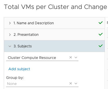 View Total VMs per Cluster and change Cluster Compute Resource