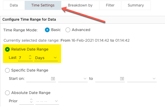 View Total VMs per Cluster and change Time Settings
