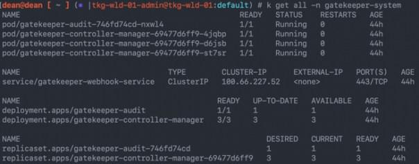 kubectl get all -n gatekeeper-system