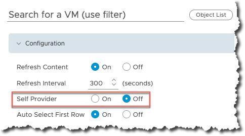 vROPs - Dashboard Interaction - Edit target widget - Self Provider Off