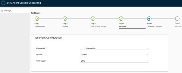 Data Management for Tanzu - Agent onboarding - Placement Configuration