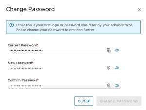 Data Management for Tanzu - First login change password