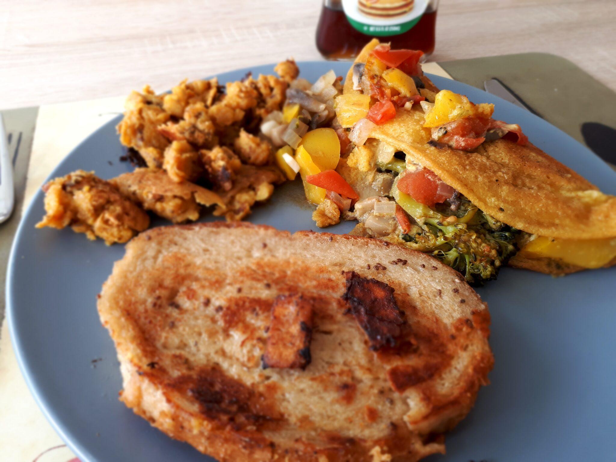 Chickpea omelete vegan Kichererbsen Omelett vegan
