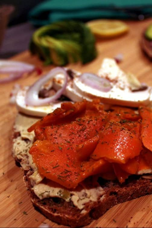 vegan smoked salmon carrot lox
