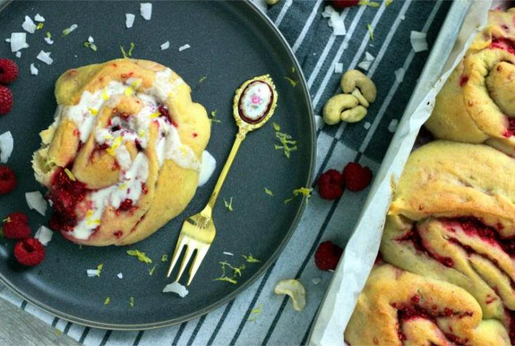 lemon raspberry buns