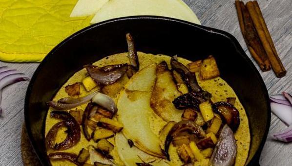 Veganes Omelett mit Kichererbsenmehl