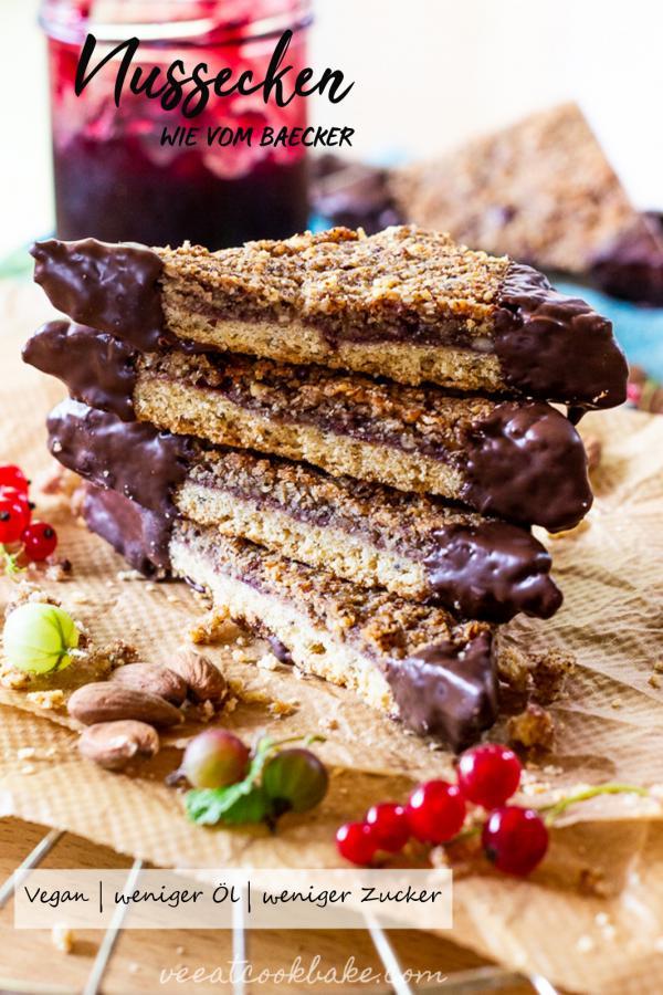 Vegane Nussecken die wie vom Bäcker schmecken