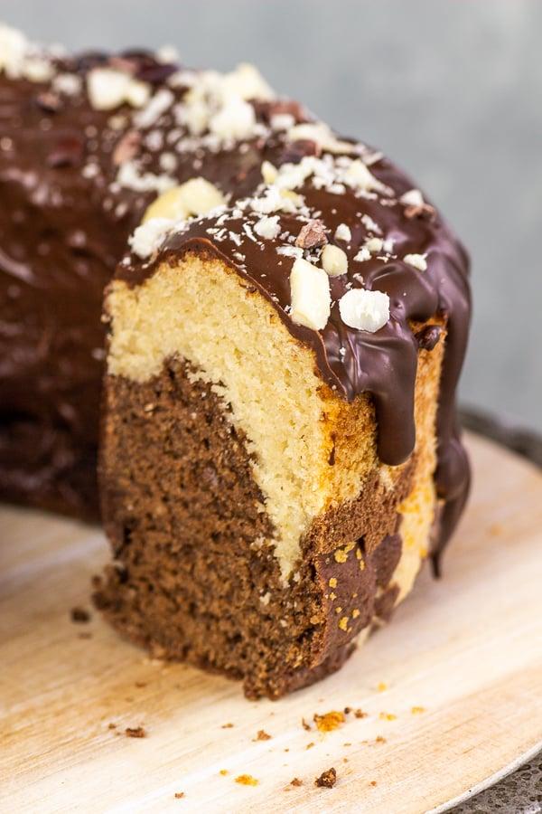 Vegan Marble Cake (gluten-free, oil-free)