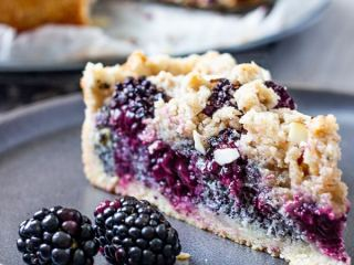Vegan Blackberry Poppy Seed Crumb Cake