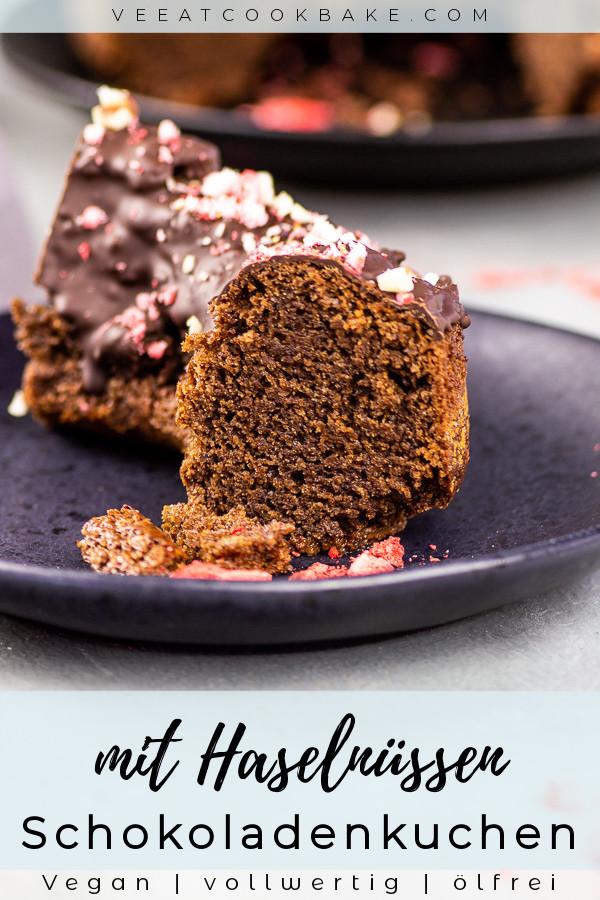veganer schokoladenkuchen mit nüssen