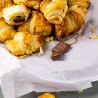 Vegane Schokoladen Croissants