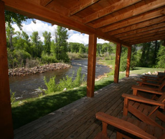 Riverside Suites Porch Sitting On Your Wyoming Summer Vacation