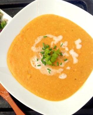 Red Lentil Sweet Potato Soup